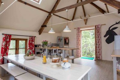 Bridesmere's open plan well equipped kitchen