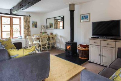 Snuggle up in Mardon's cosy living room in front of the woodturner