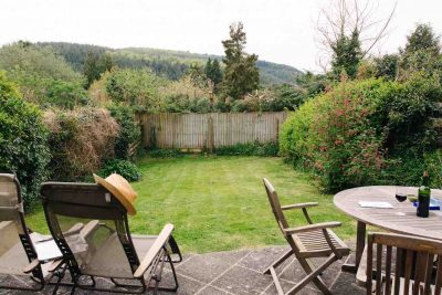 Mardon's private fenced garden with great views