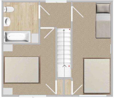 Mardon's upstairs floorpan